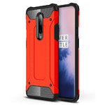 Military Defender Shockproof Case for OnePlus 7 Pro - Red